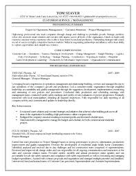 Sample Resume Construction Project Manager With