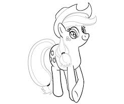 3 My Little Pony Applejack Coloring Page