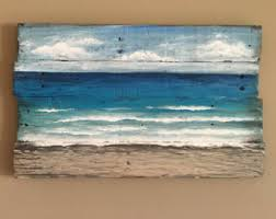Beach Painting Pallet Wall Art Hand By SandyEaselStudio