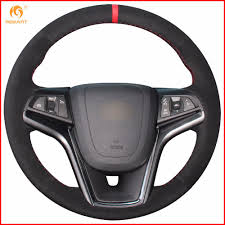 100 2011 Malibu Parts MEWANT Black Suede Car Steering Wheel Cover For Chevrolet