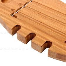 Bath Caddy With Reading Rack by Bathroom Bamboo Bathtub Rack Bath Caddy Wine Glass Holder Tray