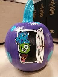 Monsters Inc Mike Wazowski Pumpkin Carving by Monsters Inc Painted Pumpkin Mike Wazowski Sully Boo Halloween