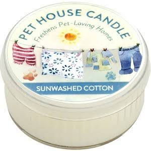 Pet House Odor Eliminating Mini Candle 1.5 oz. Sunwashed Cotton