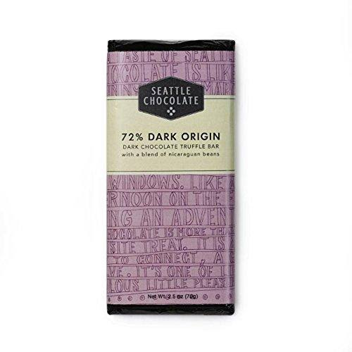 Seattle Chocolates - Dark Chocolate Bar, 2.5oz