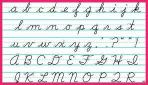 uppercase cursive letters