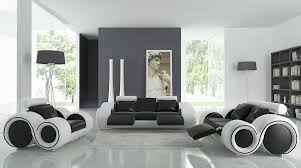 Modern Living Room Black White Color Interior Design DMA Homes