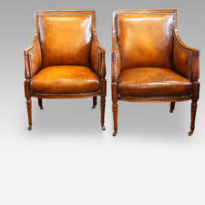 Pair Of Late 19thc Mahogany Library Reading Chairs
