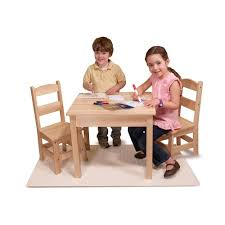 Shop Melissa & Doug Children's Natural Brown Wooden Table And Chairs ... Baby Chair Table Set 29 With Toddler And Mizuki In Birch Wood Fniture Kit For Children To Learn And Chairs Kid Height Ergonomic Solid Table Fniture Tables Chairs On Garden Study Small Wooden Wood Toddlers Design Africa Newest Childrens Patio Sets Of Perfect Fit Kids Wild Tablekids Setschilds Folding Unisex The Little Co Architecture Ideas Labe Activity Red Apple Child 1 Child Chair Set Play Todays Hint Best Mama 2 Solid Hard Sturdy