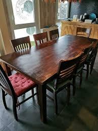 tisch massivholz inkl 8 stühle aus holz gebraucht