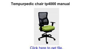 Tempurpedic Desk Chair Amazon by Tempurpedic Chair Tp4000 Manual Google Docs