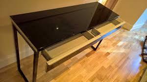 Besta Burs Desk 180cm by Slim High Gloss Ikea Table Besta Burs Computer Desk Side