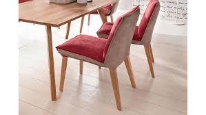 polsterstuhl genua 1 stuhl stoff rot beige mit kaltschaum
