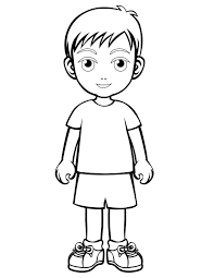 People And Places Coloring Pages Little Boy