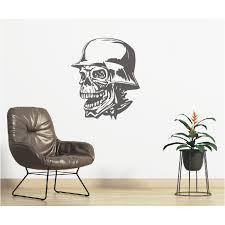 wandtattoo skull totenkopf wohnzimmer deko wandsticker wand