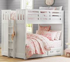 Appealing Full Bunk Bed White Belden Full Over Full Bunk Pottery