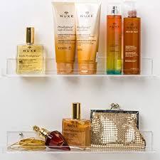 pretty display badezimmer regal unsichtbar mit enden wandmontage 38 1 cm transparente acrylregale alle schrauben im lieferumfang enthalten