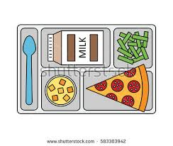 School Lunch Tray Vectors Clipart