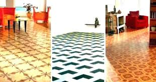 Patterned Linoleum Flooring Tiled