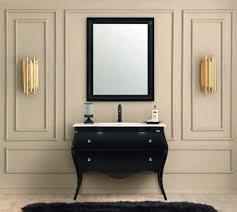 casa padrino luxus barock badezimmer set schwarz weiß 1 waschtisch 1 waschbecken 1 wandspiegel badezimmer möbel im barockstil