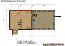 Tuff Shed Floor Plans by Home Garden Plans Cb210 Combo Plans Chicken Coop Plans