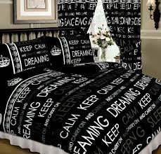 Black And White Bed Covers Design Black White Colour Teenage