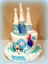 frozen cake castle olaf elsa fondant stairs
