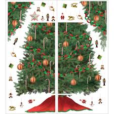3ft Christmas Tree Walmart by Christmas Tree Wall Sticker Christmas Lights Decoration