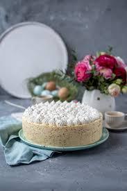 eierlikör mousse torte mit kerne groß auftischen zum osterfest