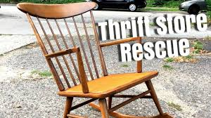 Thrift Store Rescue #6 | Repairing A Vintage Rocking Chair Sold Antique Mission Style Rocking Chair Refinished Maple And Leather Adams Northwest Estate Sales Auctions Lot 12 Vintage Wood Mini Rocker 3 Vintage Wood Carved Rocking Chairs Incl 1 Duck Design Seat Tell City Company Love Seat Projects In Childs Wooden Refurbished Autentico Bright White Victorian W Upholstered Back Wooden Chair Ldon For 4000 Sale Shpock With Patchwork Design On Backrest Batley West Yorkshire Gumtree Child Doll Red Checked Fabric