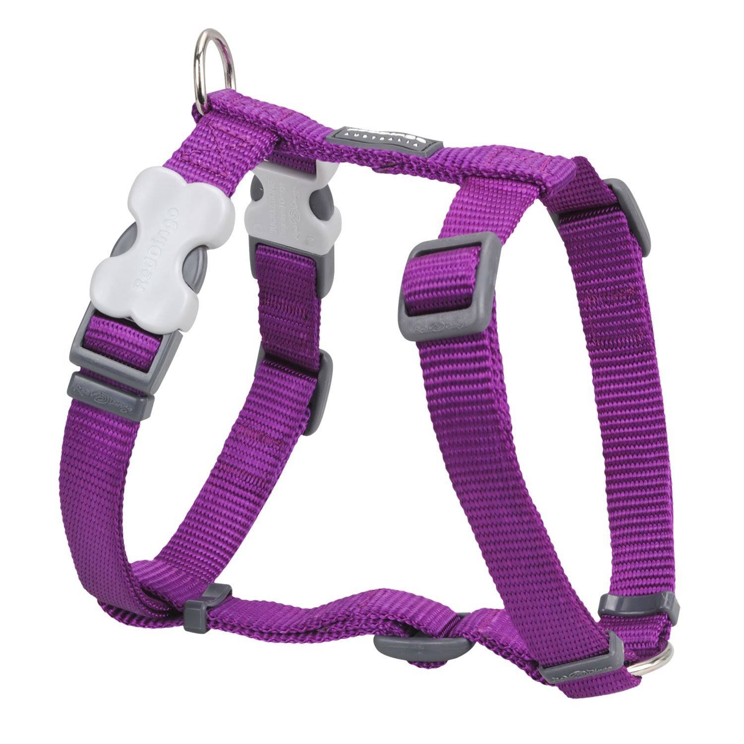 Red Dingo Classic Dog Harness - Large, Purple