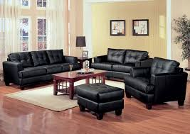 Your Cost Furniture Samuel Black Bonded Leather Sofa & Love Seat