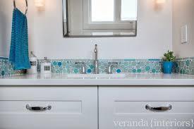 mosaic glass tile contemporary bathroom veranda