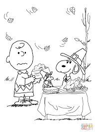 Charlie Brown Thanksgiving Coloring Page Free Printable With Pages