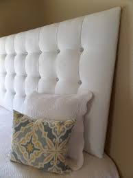 White King Headboard Upholstered by King Sized Extra Tall White Velvet Tufted Upholstered Headboard