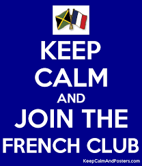 KEEP CALM AND JOIN THE FRENCH CLUB Poster