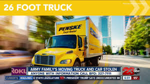 Military Family's Moving Truck Stolen - YouTube 26 Ft 2 Axle American Holiday Van Lines Check Out The Various Cars Trucks Vans In Avon Rental Fleet Moving Truck Supplies Car Towing So Many People Are Leaving Bay Area A Uhaul Shortage Is Service Rates Best Of Utah Company Penske And Sparefoot Partner Together For Season 15 U Haul Video Review Box Rent Pods How To Youtube All Latest Model 4wds Utes Budget New Moving Vans More Room Better Value Auto Repair Boise Id Straight Box Trucks For Sale Truckdomeus My First Time Driving A Foot The Move Peter V Marks