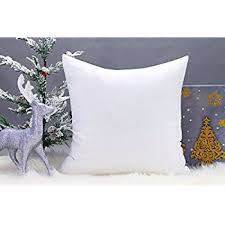 Amazon DreamHome Square Poly Pillow Insert 18