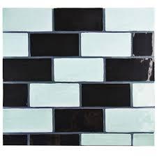 elitetile tivoli 3 x 6 ceramic subway tile in aqua blue