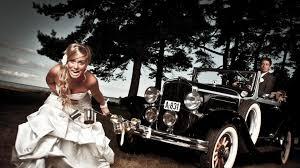 Download Now Full Hd Wallpaper Wedding Retro Car Bride Breakdown Forest
