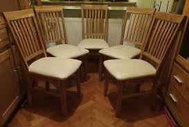 set 6 esszimmer stühle stuhl eiche dänisches bettenlager mit
