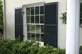 Exterior Shutters Here Are Some Wide Black Wooden For Sale