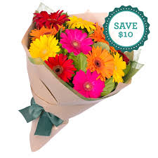 Gorgeous Gerberas Bouquet 12 Special Flowers