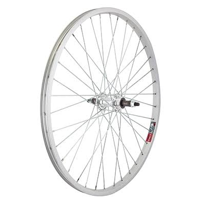 Wheel Master Rear Bicycle Wheel - 24 x 1.5-1.75 36H, Alloy, Bolt On, Silver