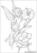 Tinkerbell Coloring Pages On Book