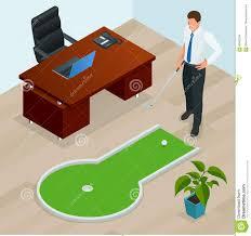 mini golf de bureau homme d affaires jouant le mini golf dans bureau perfectionnez