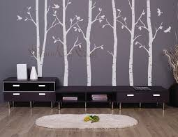 birch trees decals wall decals nature wall decals vinyl wall