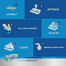 Swiffer Steam Mop On Hardwood Floors by Steamboost Powered By Bissell Starter Kit Swiffer