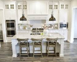 Farmhouse Style Dining Room White Paint Color And Flooring Kitchen