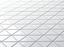 TR2 GWZ White Glossy Finish Triangle Tile Mosaic Design