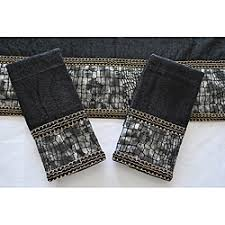 Decorative Towels For Bathroom Ideas by Sherry Kline U0027it U0027s A Croc U0027 Black Decorative 3 Piece Towel Set